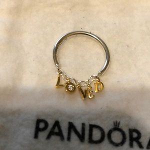 Pandora loved ring sz 52 or sz 6 ❤️